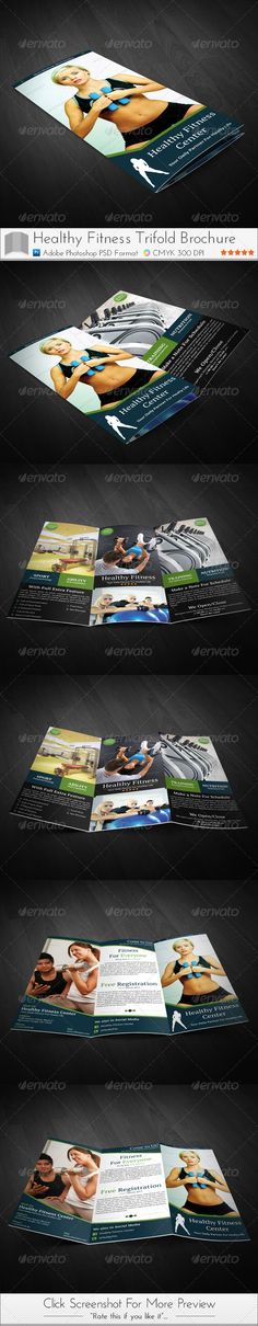 Fitness Gym Trifold Brochure  Brochures Gym And Adobe Photoshop
