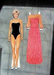 Princess Diana paper doll cutouts.