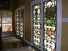 Faux Iron on French Doors...beautiful