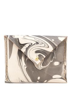 The Liza - hand dyed, marbled leather wallet/change purse.