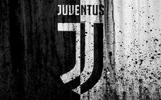 Download wallpapers Juventus, 4k, new logo, Serie A, FC Juventus, Italy, stone texture, new Juventus logo, Juve, soccer