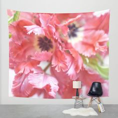 Flutter By Tulips Wall Tapestry by Lisa Argyropoulos   Society6