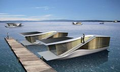 Floating Mobile Architecture by Raffa Architects in the Lusatian Lakeland