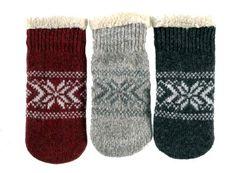 Women's Ragwool Mittens - Berber Lining