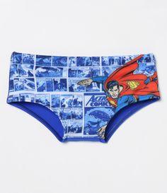 c562ea3ba4933 Sunga infantil Estampa Super Homem Marca  DC Comics Tecido  poliéster  COLEÇÃO VERÃO 2017 Veja