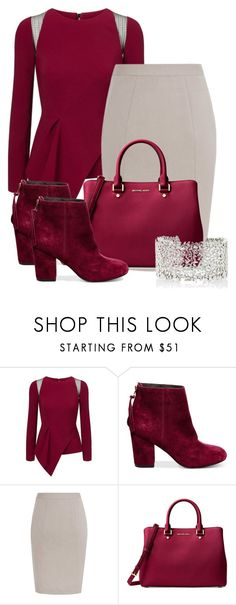 """red river"" by ljbminime ❤ liked on Polyvore featuring Roland Mouret, Steve Madden, Michael Kors and Suzanne Kalan"