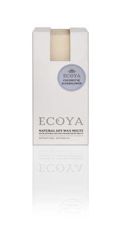 ECOYA Soy Wax Melts - Coconut & Elderflower  http://www.ecoya.com/