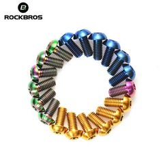 ROCKBROS M5*10mm Titanium Alloy Bolts Bicycle Parts Bolts Brake Disc Screws
