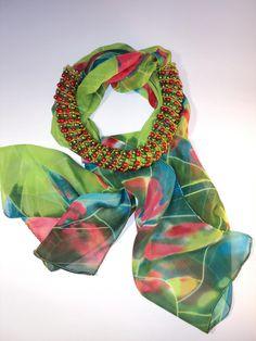 Зеленые шарфики   biser.info - всё о бисере и бисерном творчестве