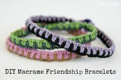 Easy DIY Macrame Friendship Bracelets - CraftsUnleashed.com