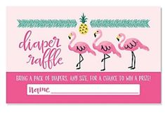 Flamingo Baby Shower, Pack Of Diapers, Bring It On, Names