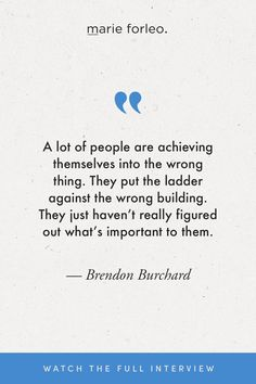 High performance coach and best-selling author Brendon Burchard spent 3 years conducting the world's largest study on the mindsets and habits of successful people. In this MarieTV interview he shares the 6 keys to success that he discovered in his research. #brendonburchard #highperformance #habitsofsuccessfulpeople #success #habits #brendonburchardquotes #motivationalquotes Marie Forleo, Habits Of Successful People, Relationship Issues, Amazing Quotes, 3 Years, Motivationalquotes, Keys, Interview, Advice