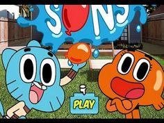 غامبول المدهش اللعب بفقاعات الماء - لعبة كرتون عالم غامبول