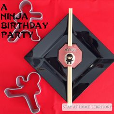 Totally amazing ninja themed birthday party || A Fifth Birthday Ninja Party at Stay at Home Territory