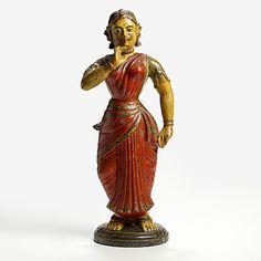 Auction of Indian Miniatures & Works of Art: Devdasi (Temple Dancer), Polychrome terracotta, Madurai, c. 1850