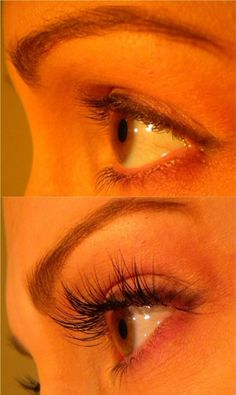 A before & after of Lavish Lashes eyelash extensions. (I will be certified to do this soon if anyone is interested) Beauty Care, Beauty Makeup, Beauty Hacks, Hair Beauty, Beauty Room, Beauty Ideas, Natural Looking Eyelash Extensions, Eyelashes, Eyebrows