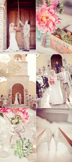 Beautiful Camp Lucy wedding with pretty color palate