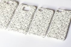Christmas SALE White Geometric Phone Case. Whimsy by petekdesign