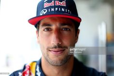 Daniel Ricciardo of Australia and Infiniti Red Bull Racing poses in the team hospitality unit during previews for the Formula One Grand Prix of Brazil at Autodromo Jose Carlos Pace on November 12, 2015 in Sao Paulo, Brazil.