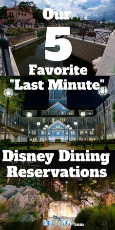 "Our Five Favorite ""Last Minute Dining Reservation"" Options at Walt Disney World    Disney World and dining reservations tend to fall hand in hand but sometimes you cant plan quite as far ahead of time as you'd like. In that situation, these are our top tips for booking dining at Disney with a short turn around time and a few recommendations to share along the way! Take a look at what's on our list! #Disney #DisneyDining #WDW #DisneyFood"