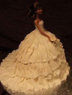 Wedding Dress By hockeymom on CakeCentral.com
