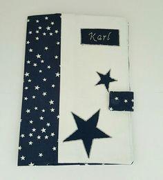 Protège carnet de santé personnalisable en tissus collection Douceur d'étoiles