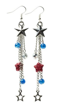 Star Spangled Earrings | Beading Patterns | Jewelry Projects | Cousin Corporation