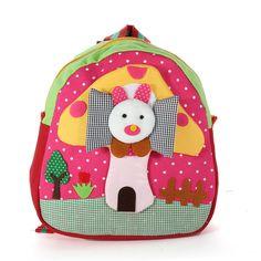 Handmade Cotton Baby Bag 3D Cartoons Rabbit Mushroom Backpack