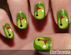 Must have for my golfing vacation!! Golf nails. #nailart