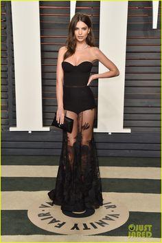 Lily Aldridge & Emily Ratajkowski Rock Sexy Looks at Vanity Fair Oscar Party 2016