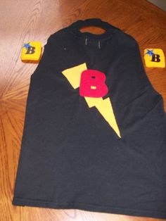 Boys Super Hero Lightening Cape and Cuffs by FoundKIDS on Etsy, $20.00