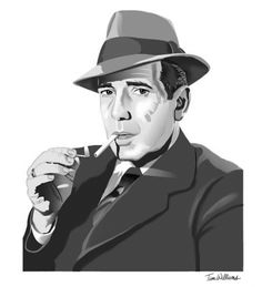 Humphrey Bogart by timwilliamsart