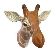 Paper mache animal heads. Quirky! And fair trade. :)