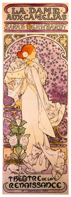 Mucha - The Lady of the Camellias.