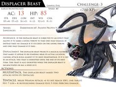 Displacer Beast by Almega-3 on DeviantArt