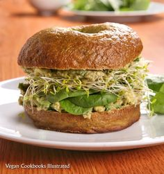Vegan 'Incredible Green Sandwich' from the cookbook Vegan Sandwiches Save the Day...