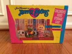 "1989 Vintage (Jim Henson) ""MUPPET BABIES"" (Children's Video Storage Case), NEW! #WorldTradeMarketing"