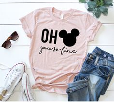 Oh Mickey You So Fine Shirt Disney Inspired Shirt Graphic