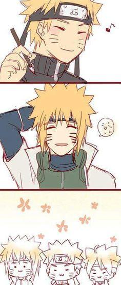 Naruto Minato and Boruto Naruto Uzumaki, Anime Naruto, Art Naruto, Naruto Sasuke Sakura, Naruto Cute, Naruhina, Gaara, Boruto 2, Otaku Anime