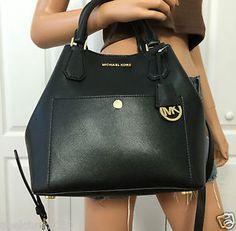 Michael Kors Large Saffiano Leather Satchel Bag Shoulder Handbag Bag Purse | eBay