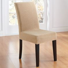 BrylaneHome® Studio Stretch Diamond Dining Chair Slipcover | Chair Slipcovers | Brylanehome
