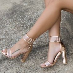 e7d1835310549 Plus Size 35-41 Gold sexy fashion woman high heels transparent open toe  sandals hollow buckle thick heel sandals ankle boots from Eoooh❣❣
