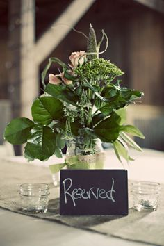 Simple, green centerpieces