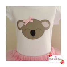 Koala appliqué - Katie Koala Tee from Molly and Mama - perfect for Australia Day. A super sweet applique design honouring a cute and cuddly local icon!