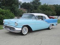 1957 Oldsmobile | 1957 Oldsmobile Starfire 98 Convertible - J2 Tri-Power - Two Tone Blue ...