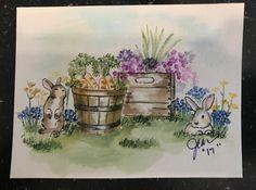 Art Impressions bunnies and crates.