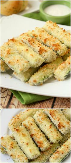 Healthy and delicious Baked Crusted Zucchini Sticks recipe - one of our favorite side dishes. Packed with flavor - panko, parmesan cheese, oregano, and basil. Healthy Recipes, Side Dish Recipes, Healthy Snacks, Cooking Recipes, Paleo Meals, Healthy Eats, Yummy Recipes, Thanksgiving Side Dishes, Thanksgiving Recipes