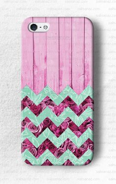 Flower Chevron Floral Pink iPhone 5 5s Case