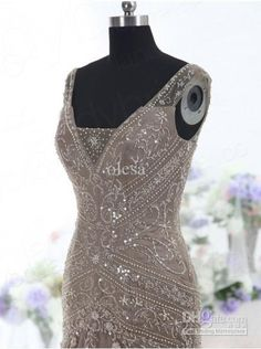 2015 High Quality Brown Evening Dress Drop Waist V Neck Mermaid Court Train Beading Sequins Embroidery Tulle Mother Of The Bride Dress Olesa Mother Of The Bride Dress Plus Size Mother Of The Bride Dresses Knee Length From Olesa, $128.9| Dhgate.Com