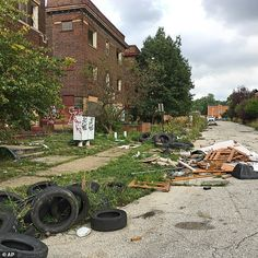 Cleveland and East Cleveland, two of the country's poorest cities, are debating whether to merge, with both cities saying the state of Ohio needs to provide millions to begin fixing East Cleveland's infrastructure and finances. East Cleveland is seen here